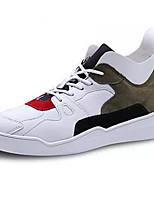 Недорогие -Муж. Комфортная обувь Полиуретан Осень На каждый день Кеды Нескользкий Контрастных цветов Красный / Черный / Красный / Белый / Желтый