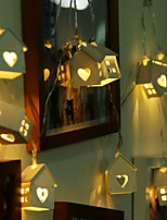 abordables -1 set LED Night Light Blanc Chaud Piles AA alimentées Mignon / Créatif / Mariage <5 V