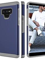 Недорогие -Кейс для Назначение SSamsung Galaxy Note 9 Защита от удара Кейс на заднюю панель Однотонный Твердый ПК для Note 9