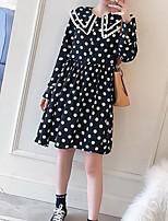 preiswerte -Damen A-Linie Kleid Punkt Übers Knie
