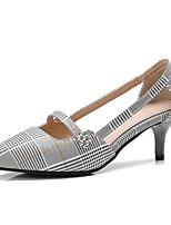 Недорогие -Жен. Балетки Полиуретан Весна Обувь на каблуках На шпильке Черный / Миндальный
