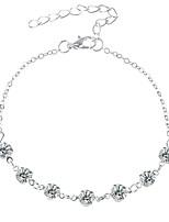 Недорогие -Классический лодыжке браслет - Искусственный бриллиант Художественный Золотой / Серебряный Назначение На выход Бикини Жен.
