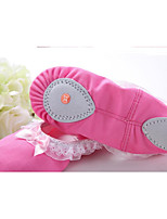 abordables -Fille Chaussures de Ballet Toile Plate / Basket Talon Plat Chaussures de danse Fuchsia / Rose
