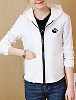 cheap -women's jacket - solid colored hooded