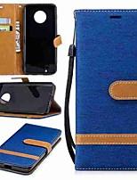 billiga -fodral Till Motorola MOTO G6 / G5 Plus Plånbok / Korthållare / med stativ Fodral Enfärgad Hårt Textil för MOTO G6 / Moto G5 Plus / Moto G5 / Moto G4 Plus