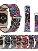billiga -Klockarmband för Apple Watch Series 4/3/2/1 Apple Läderloop Äkta Läder Handledsrem
