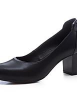 Недорогие -Жен. Комфортная обувь Наппа Leather Весна Свадебная обувь На толстом каблуке Белый / Черный / Хаки / Свадьба