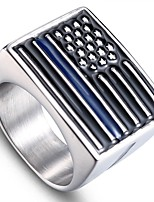 cheap -Men's Stylish Sculpture Ring - Stainless Flag Stylish, Simple, Unique Design 9 / 10 / 11 / 12 Silver For Daily Street