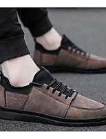 Недорогие -Муж. Комфортная обувь Полотно / Микроволокно Осень На каждый день Кеды Черный / Серый / Коричневый