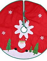 Недорогие -Орнаменты Новогодняя тематика Ткань Круглый Оригинальные Рождественские украшения