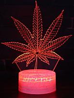Недорогие -1шт 3D ночной свет Поменять USB Сенсорный датчик / Cool / Атмосферная лампа 5 V