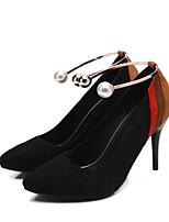 abordables -Femme Chaussures de confort Daim Printemps Chaussures à Talons Talon Aiguille Noir / Rouge