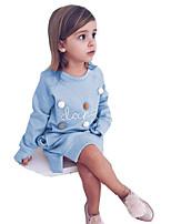 Недорогие -Дети Девочки Буквы Длинный рукав Платье