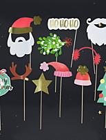 baratos -Ornamentos Desenho Plástico / PVC Brinquedo dos desenhos animados Decoração de Natal