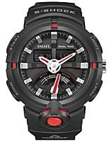 Недорогие -SMAEL Муж. Спортивные часы электронные часы Японский Цифровой 50 m Защита от влаги Календарь Секундомер Plastic Группа Аналого-цифровые Мода Черный - Черный / Красный Черный / Синий