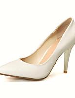 baratos -Mulheres Stiletto Couro Ecológico Primavera Saltos Salto Agulha Branco / Azul / Rosa claro