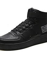"""Недорогие -Муж. Комфортная обувь Полиуретан Осень На каждый день / Стиль """"Школьная форма"""" Кеды Массаж Белый / Черный"""