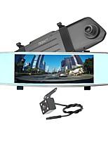 Недорогие -ziqiao x700 full hd 1080p 7 дюймов ips ночного видения автомобиль dvr зеркало камера видеомагнитофон двойной объектив регистратор вид сзади dvrs тире камера