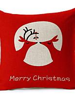 Недорогие -Наволочки Новогодняя тематика / Праздник Нетканый материал Прямоугольный Оригинальные Рождественские украшения