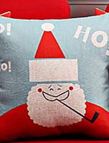 baratos -Cobertura de Almofada Férias / Desenho Algodão Rectângular Festa / Novidades Decoração de Natal