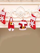 Недорогие -Орнаменты Новогодняя тематика Ткань Мультфильм игрушки Рождественские украшения