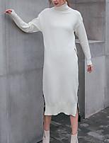 Недорогие -Жен. Классический Трикотаж Платье Пэчворк Средней длины