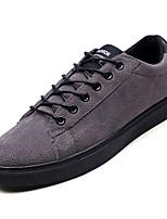 Недорогие -Муж. Комфортная обувь Свиная кожа / Полиуретан Осень На каждый день Кеды Нескользкий Черный / Серый / Хаки