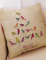abordables -Housse de coussin Vacances Polyester Rectangulaire Nouveautés Décoration de Noël