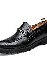 baratos -Homens Sapatos formais Couro Sintético Outono Formais Mocassins e Slip-Ons Preto / Vermelho / Casamento / Festas & Noite