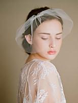 Недорогие -Один слой Старинный / Классический Свадебные вуали Короткая фата с Однотонные Тюль