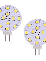 baratos -2pcs 2 W 180 lm G4 Luminárias de LED  Duplo-Pin T 12 Contas LED SMD 2835 Branco Quente / Branco Frio 12-24 V