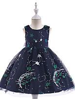 Недорогие -Дети Девочки Галактика Без рукавов Платье