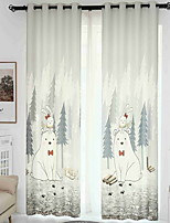 cheap -3D Curtains Bedroom Geometric Linen Reactive Print