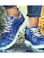 Недорогие -Муж. Комфортная обувь Полиуретан Весна & осень Кеды Черный / Синий / Светло-Зеленый