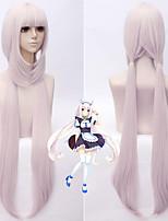 Недорогие -Косплэй парики / Аксессуары для костюмов / Парики из искусственных волос Прямой Розовый Стрижка каскад Искусственные волосы 38 дюймовый Аниме / Косплей Розовый Парик Жен. Очень длинный