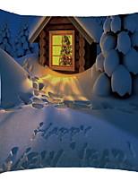 baratos -Cobertura de Almofada Natal Poliéster Quadrada Festa Decoração de Natal