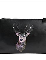 cheap -Women's Bags PU(Polyurethane) Clutch Zipper Black