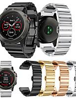 baratos -Pulseiras de Relógio para Fenix 5x Garmin Fecho Clássico Metal / Aço Inoxidável Tira de Pulso
