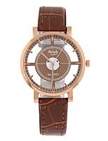 Недорогие -Жен. Нарядные часы Наручные часы Кварцевый С гравировкой Новый дизайн Повседневные часы PU Группа Аналоговый На каждый день Мода Черный / Белый / Коричневый - Белый Черный Коричневый / Один год
