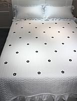 baratos -Confortável - 2pçs Fronhas de Almofada / 1 Cobertura de Cama Todas as Estações Algodão Simples