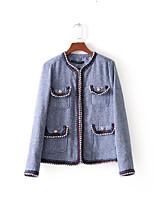 cheap -Women's Boho Jacket - Solid Colored, Jacquard