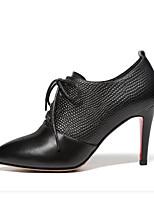 abordables -Femme Chaussures de confort Cuir Nappa Hiver Chaussures à Talons Talon Aiguille Bout pointu Noir / Marron