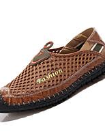 baratos -Homens Sapatos Confortáveis Com Transparência Outono Casual Mocassins e Slip-Ons Não escorregar Marron / Verde Tropa / Azul