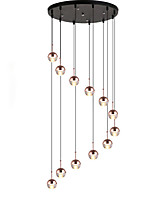 abordables -QIHengZhaoMing Lampe suspendue Lumière d'ambiance Finitions Peintes Métal 110-120V / 220-240V Blanc Crème Source lumineuse de LED incluse / G4