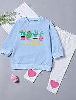 cheap -Toddler Girls' Cartoon Long Sleeve Clothing Set
