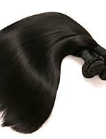 Недорогие -3 Связки Индийские волосы / Вьетнамские волосы Прямой Необработанные / Натуральные волосы Подарки / Человека ткет Волосы / Сувениры для чаепития 8-28 дюймовый Ткет человеческих волос