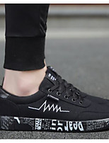 Недорогие -Муж. Комфортная обувь Полотно Лето На каждый день Кеды Черный / Черно-белый / Черный / Желтый