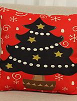 Недорогие -Наволочка Новогодняя тематика Хлопковая ткань Квадратный Для вечеринок / Оригинальные Рождественские украшения