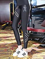 baratos -Mulheres Sexy Leggings de Corrida - Roxo, Azul, Rosa claro Esportes Estampado Elastano Meia-calça / Leggings Ioga, Fitness, Ginásio Roupas Esportivas Secagem Rápida, Compressão, Redutor de Suor