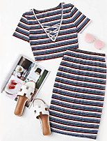 cheap -Women's Set - Striped Skirt